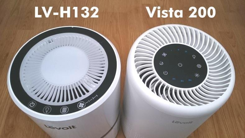 Levoit LV-H132 vs Vista 200 air purifiers top view comparison