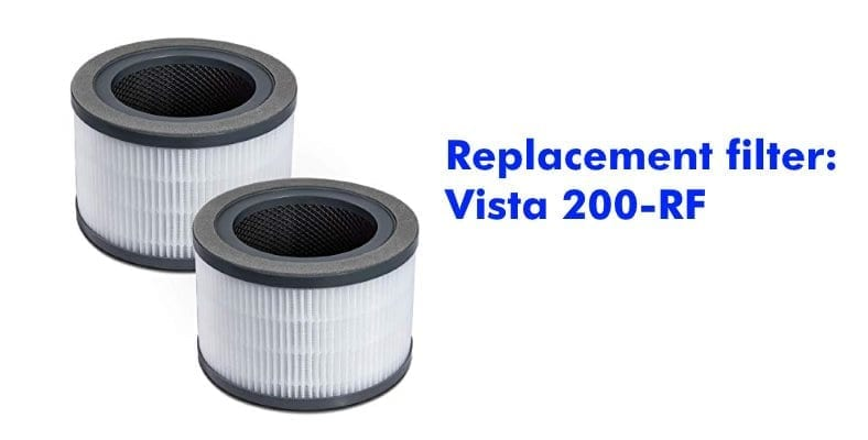 Vista 200-RF replacement HEPA filter example