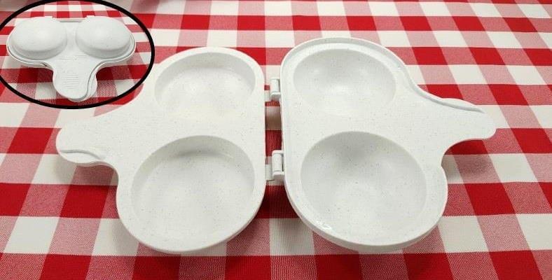 Nordic Ware microwave egg poacher product closeup