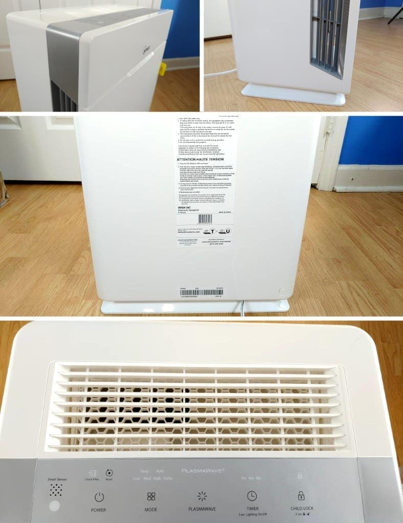Winix HR900 air purifier close up build quality images