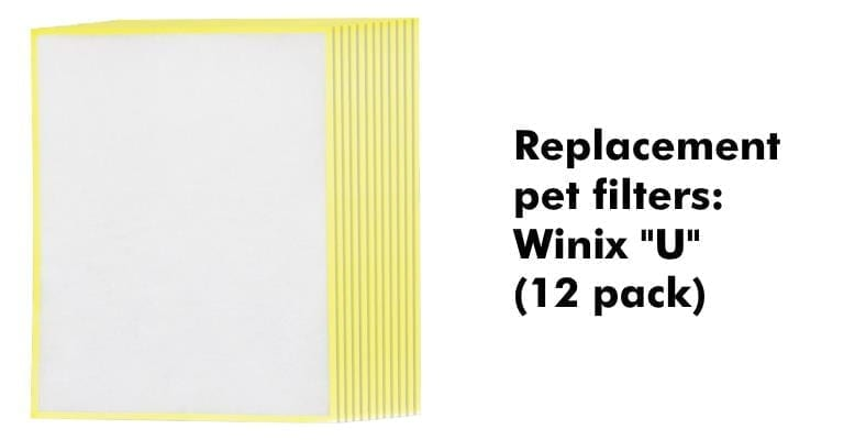 Winix Type U replacement pet filters product image