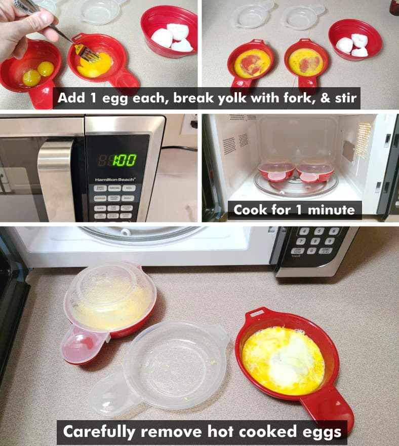 How to use microwave egg sandwich maker steps diagram