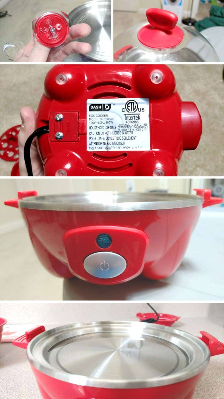Dash Rapid Egg Cooker fit and finish quality inspection closeup images
