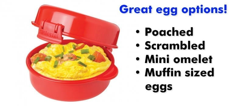 Sistema Microwave Easy Eggs cooking options list