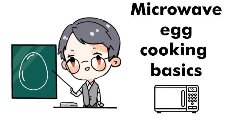 Teacher showing microwave egg cooking basics