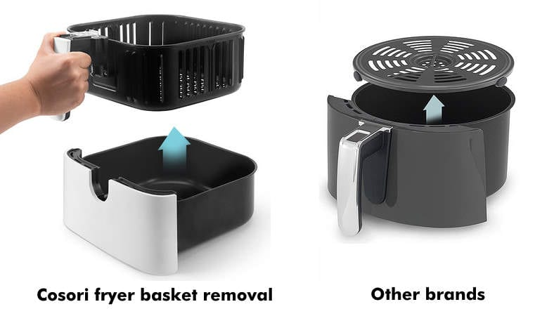 Cosori air fryer basket vs other brands comparison