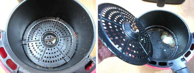 Dash Compact air fryer basket use example