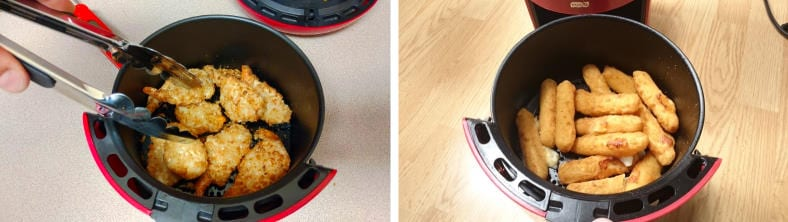 Dash Compact air fryer cooked food examples