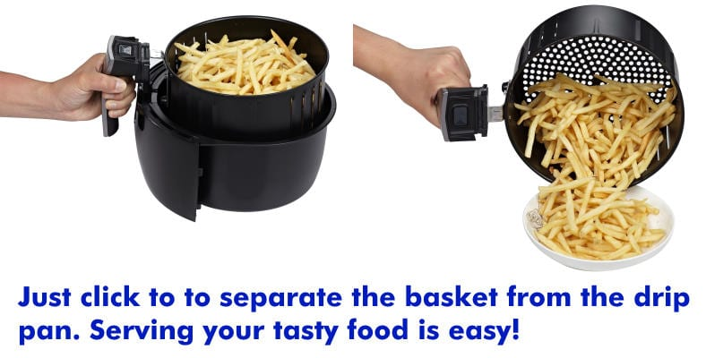 GoWise air fryer basket product feature example image