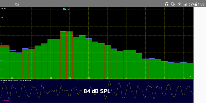 LectroFan mellow fan sound EQ frequency snapshot example