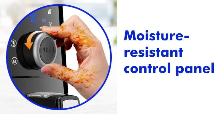 Omorc air fryer moisture resistant control panel feature image