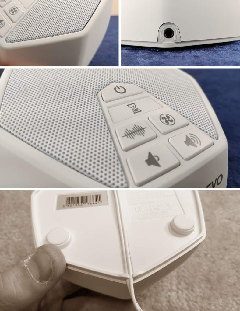 LectroFan Evo white noise machine closeup images