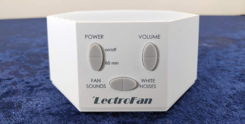Front view of the LectroFan white noise machine close up