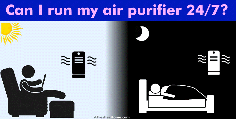 Can I run my air purifier 24/7 section image