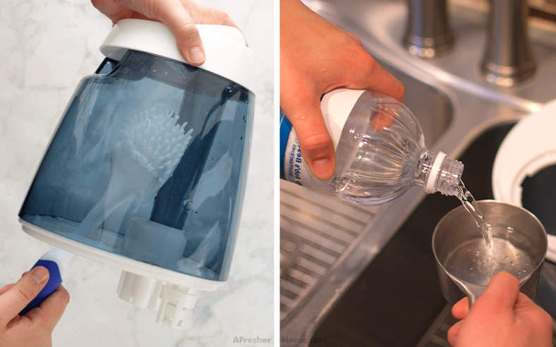 cleaning humidifier with vinegar example
