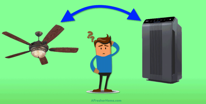 do ceiling fans help air purifiers section image