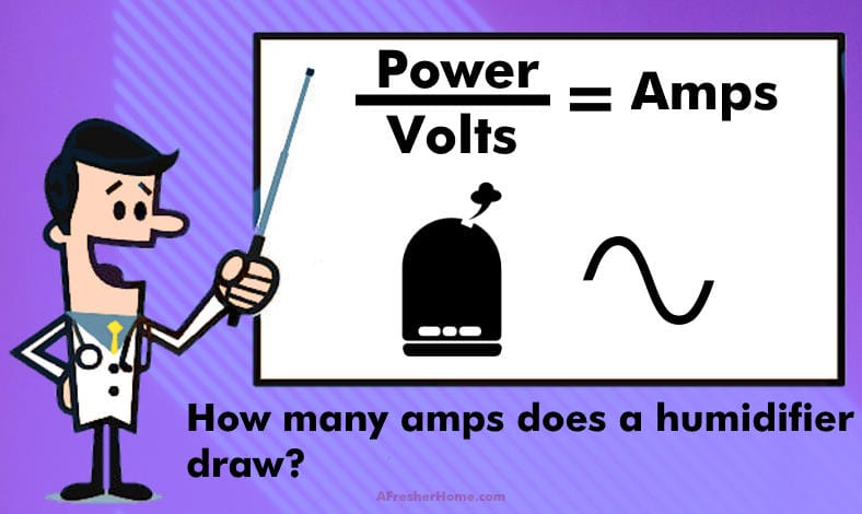 how many amps does a humidifier draw section image