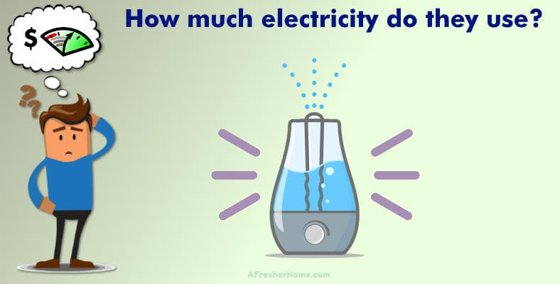 how much electricity does a humidifier use man thinking image