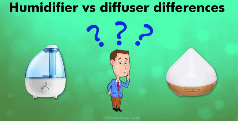 humidifier vs diffuser differences section image
