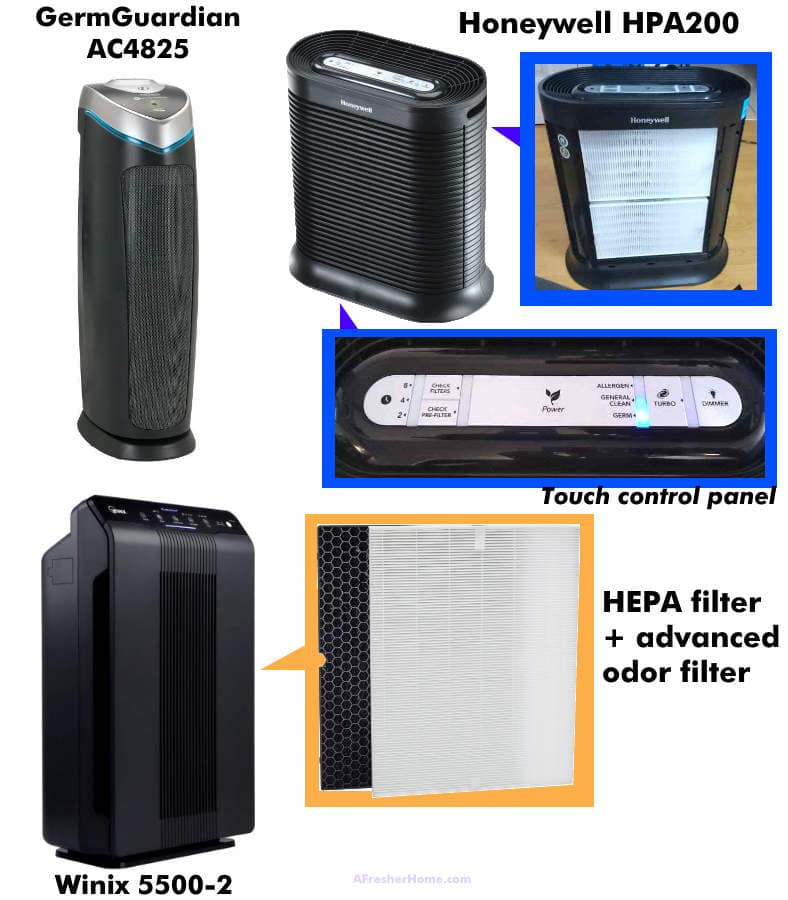Examples of medium priced air purifiers