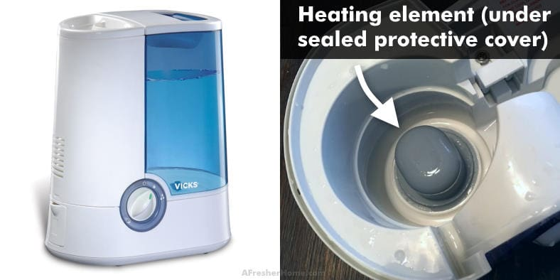 warm mist humidifier heating element illustrated example image