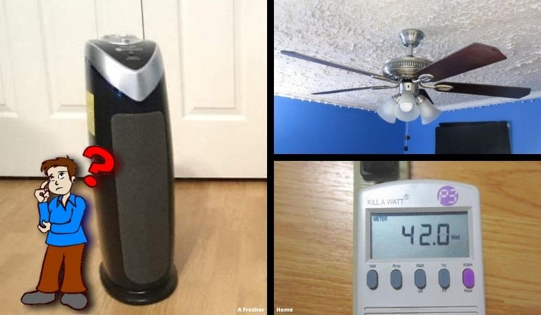 what uses more electricity ceiling fan or air purifier featured image